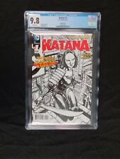 DC KATANA 1 RARE SKETCH VARIANT CGC 9.8 !! BOOK IS VERY HARD TO FIND FINCH CVR