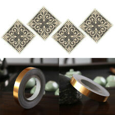40Pcs Tile Floor Sticker Decorative Decal, 2Pcs Tape Gap Filling Sticker
