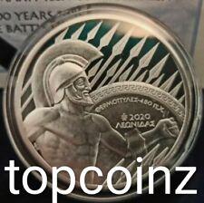 GREECE silver 10 Euro 2020 Proof 🔷 THERMOPYLAE SPARTA LEONIDAS 🔷 Grece Grecia