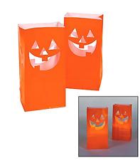 Fun Express JackO'Lantern Luminary Bags/Pumpkins/Halloween/Party Supplies new