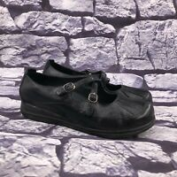 Dansko Portia Women's Black Leather Criss Cross Mary Jane Shoes Sz 38 US 7.5 - 8
