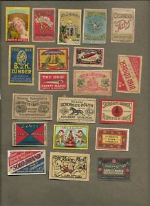 AUSTRIA CZECHOSLOVAKIA MATCHBOX LABELS ON AND OFF PAPER LOT 4