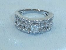 Vintage 18K White Gold Ring, 59 Diamonds TCW 1.10, Size 6.5, *Written Appraisal*