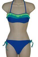 California Waves blue bandeau bikini size M swimsuit new