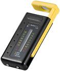 BATTERIETESTER MIT LCD-DISPLAY Zustandsanzeige für alle Batterien