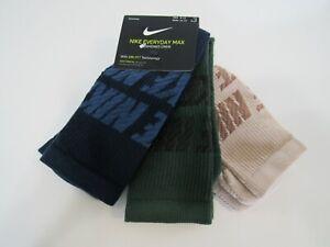 Nike Dri Fit Mens Crew 3 Pack Socks 8-12 Nwt