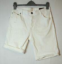 "WHITE LADIES CASUAL COLOURED DENIM SHORTS SIZE 30"" ASOS STRETCHY"