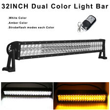 "32inch Amber/White/Strobeflash Led Work Light Bar Offroad Wireless Remote 30""/34"