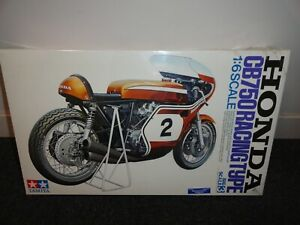 Tamiya 1:6 Honda CB750 Racing Type Plastic Model Kit - New Sealed Box
