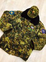 Vintage Soviet Russian uniform military pilot Bomber butane coat + hat. Rare