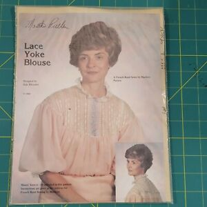 Martha Pullen Lace Yoke Blouse Misses 6-18 French Hand Sewing by Machine