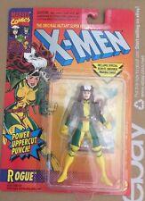 Toy Biz X-Men Rogue Action Figure EX/NM Marvel Comics w/Card CREASED BACKER CARD