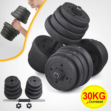20KG/30KG Dumbbell Set Weight Training Lifting Gym Fitness Workout/Barbell Bar