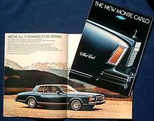 Prospekt brochure 1978 Chevrolet Chevy Monte Carlo (USA)
