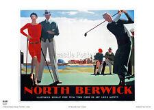 NORTH BERWICK SCOTLAND RETRO VINTAGE RAILWAY TRAVEL ADVERTISING POSTER ART