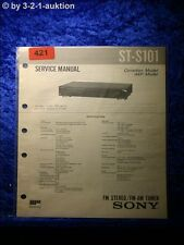 Sony Service Manual ST S101 Tuner  (#0421)