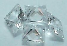 Princess 2 x 2 mm Real VVS D White Sapphire Brilliant Cut Stones Lot Of 10