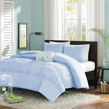 Egyptian Cotton 800TC 5pc Center Gathered Ruffle Duvet Cover Set All Size &Color
