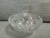 Mikasa Small Crystal Art Deco Bowl Candy or Trinket Dish With Lid