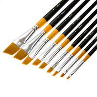 Artist Paint Brushes Set Acrylic Oil Watercolour Painting Craft Art Model Kit