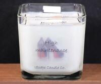 IScape Scented *High Maintenance* 11 Oz. Square Jar Wood Wick Soy Candle