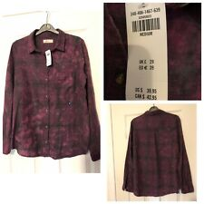 Hollister Purple Shirt Size Medium M Women's New With Tags Rrp£29 (A670)
