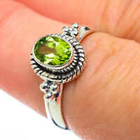 Peridot 925 Sterling Silver Ring Size 7.25 Ana Co Jewelry R50181F
