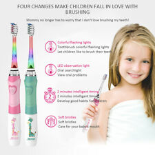 SEAGO children's soft toothbrush with timer 3 nozzle for 3-12 years green color