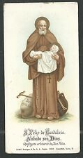 Holy card antique de San Felix de Catalicio estampa santino image pieuse
