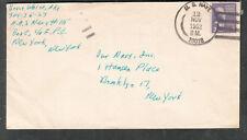 1952 cover Bruce White AK3 Naval Air Station 115 Box E Navy 10018 Guantanamo Bay