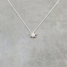 Star Sun Silver Necklace in Gift Box Celestial Pointed Starry Space Jewelry