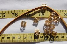 8x9mm Barrel Tube Filigee Beads Crafts Jewelry Bead  Findings/10pc/RS83