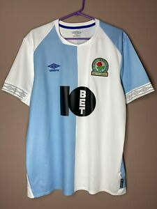 Blackburn Rovers 2019-2020 Home Football Shirt Umbro Soccer Jersey Maglia size L