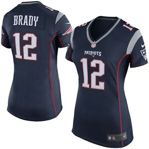 Women's New England Patriots Tom Brady Navy Blue Game Jersey NFL Football XXL