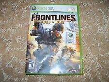 Frontlines: Fuel of War  (Xbox 360, 2008) EUC FREE USA SHIPPING