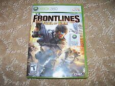 Frontlines: Fuel of War  (Xbox 360, 2008) EUC