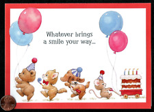 MOREHEAD Kitten Cat Puppy Dog Mouse Cake - RELIGIOUS Birthday Greeting Card NEW
