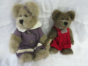 "Vintage Boyd's Bear Lot #8: 2  Bears, 7"" & 9"", 1990-1999, Ex!"