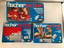 Vintage Fischer Tecknik Toy Building Sets 25V 50S 50S/1