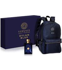 Versace Mens Dylan Blue 2-PC Gift Set Eau De Toilette & Backpack Authentic NIB