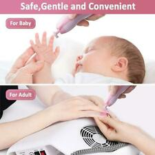 Electric Baby Nail File Clippers Trimmer Toddler Toes Care Polish Trim Set T6B3
