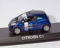 Citroen C1 Crono Azul metalizado. NOREV 1:43