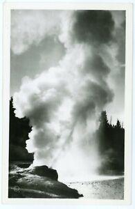 RPPC - Yellowstone National Park, Riverside Geyser Erupting, by Haynes Inc.