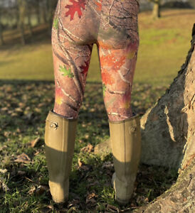 Ladies Hunting Leggings Camo Pattern Realtree Style Leggins One Size Brand New