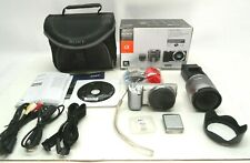 Sony Alpha NEX-5N 16.1MP Digital Camera Zoom Lens Kit 18-55mm f/3.5-5.6 Silver