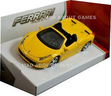 FERRARI 458 SPIDER 1:43 Diecast Metal Model Car Die Cast Models Car