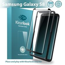 Klearlook Samsung Galaxy S8 Case Friendly Tempered Glass Screen Protector New