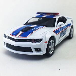 "New 5"" Kinsmart 2014 Chevrolet Camaro Police Diecast Model Toy 1:38 Chevy White"