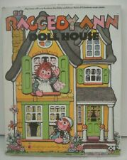 Large Vintage Raggedy Ann Doll House Colorforms 1974   Unused with Booklet