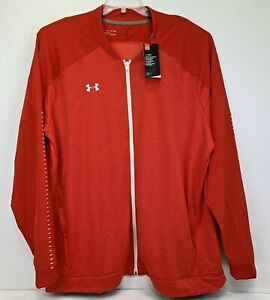UNDER ARMOUR Mens 4Xlarge Red Knit Cold Gear  Full Zip Track Jacket NWT's (A37)